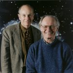 Physicists Jim Cronin (left, University of Chicago) and Alan Watson (University of Leeds) proposed the Pierre Auger Observatory in the 1990s to solve the mystery of ultrahigh-energy cosmic rays. Cronin won a share of the 1980 Nobel Prize in Physics for the discovery of symmetry violations in subatomic processes involving matter and antimatter. Photo: Fermilab