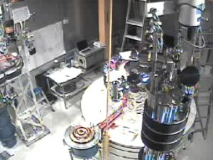 This video (1 min.) shows a time lapse of the construction of the CDMS experiment in 2003-2004. Watch video (QuickTime movie. May not work in all browsers.)