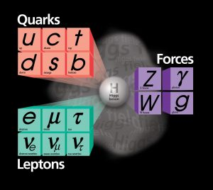 According to the Standard Model of particles and forces, the Higgs mechanism gives mass to particles. Measuring the mass of the top quark and the mass of the W boson, scientists can restrict the allowable mass range of the not-yet-observed Higgs boson.