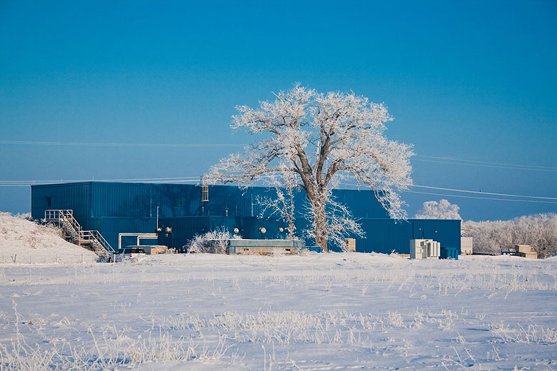 TD's Tom Nicol took this photo of the pond behind the Technical Division industrial complex during the morning of Wednesday, Dec. 29. Photo: Tom Nicol, TD