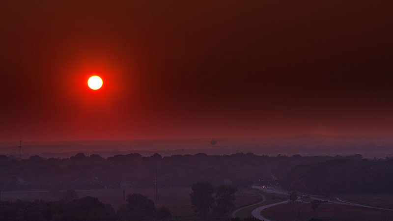 Smoke from a Minn. fire reached Fermilab on Sept. 13 and lasted through Sept. 14. Photo: Marty Murphy, AD