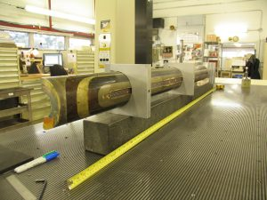 A 2-meter-long superconducting coil filled with Matrimid® has been shown to be able to stand up to extreme operating environments. Photo: Sarah Khan