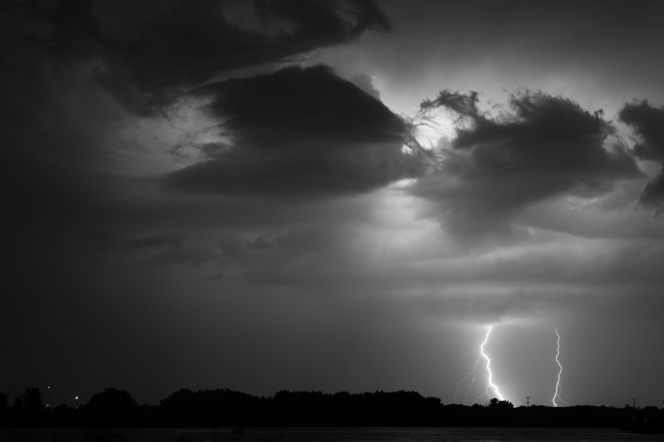 Jesus Orduna, Rice University, took this photo from the bird watching area by Lake Law in the Village just before the heavy rain hit Monday night.