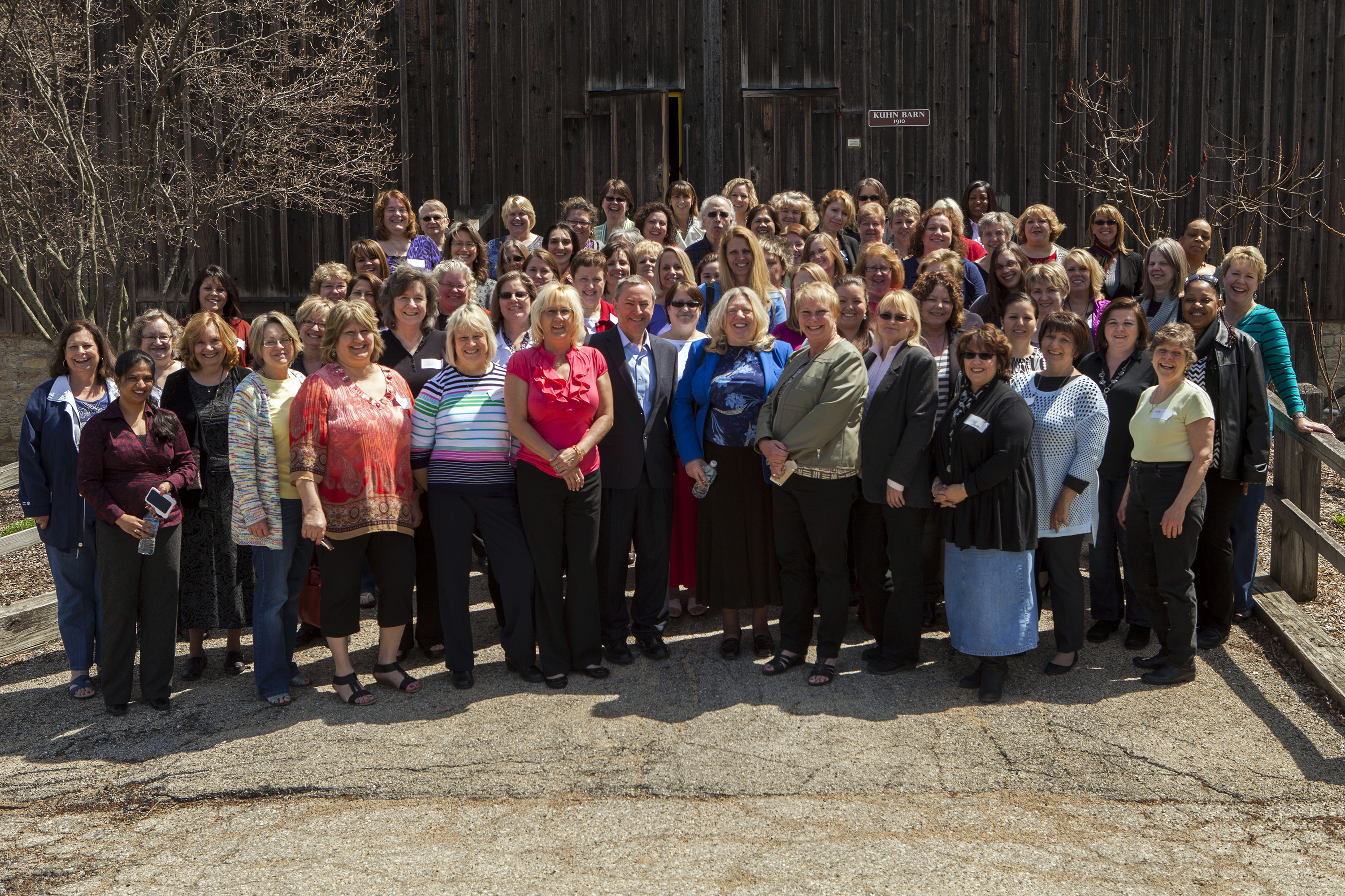 Wednesday was Administrative Professionals Appreciation Day. Fermilab celebrated the day with a luncheon at Kuhn Barn. Photo: Cindy Arnold