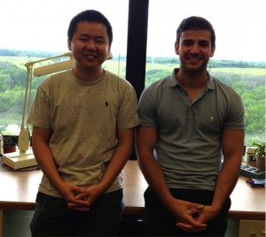 The primary authors of this result are Tingjun Yang of Fermilab, left, and Edward Santos of Imperial College London.