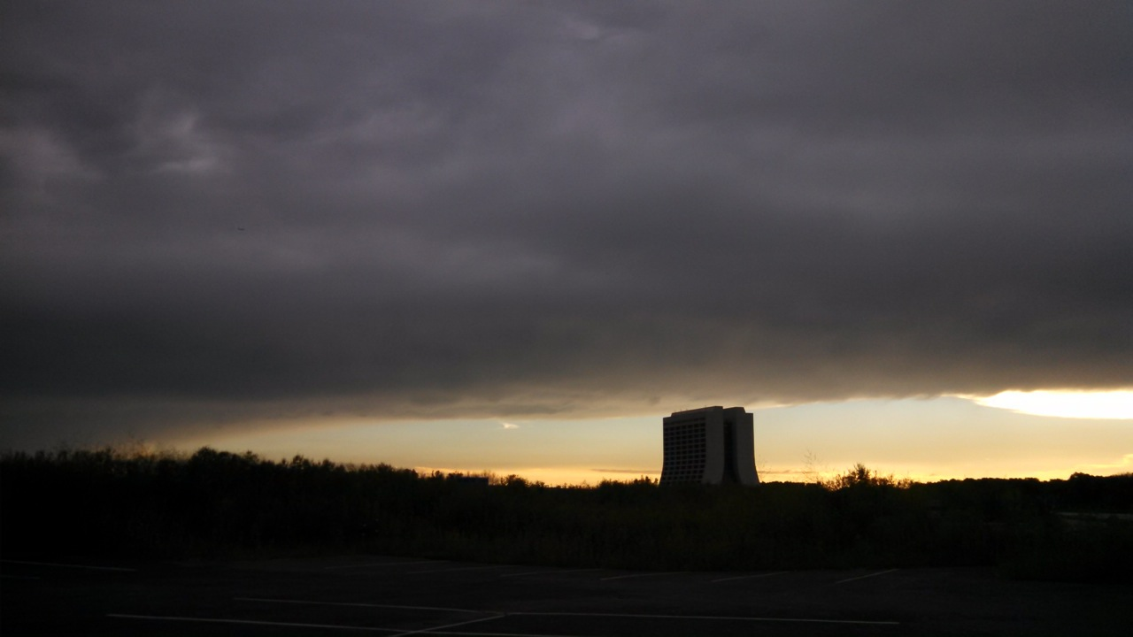 Clouds lay over Fermilab grounds like a giant swath of cotton on Monday. Photo: Lauren Biron, DI