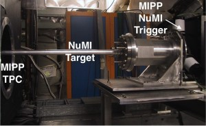 The NuMI target is mounted in Fermilab's MIPP experimental hall.