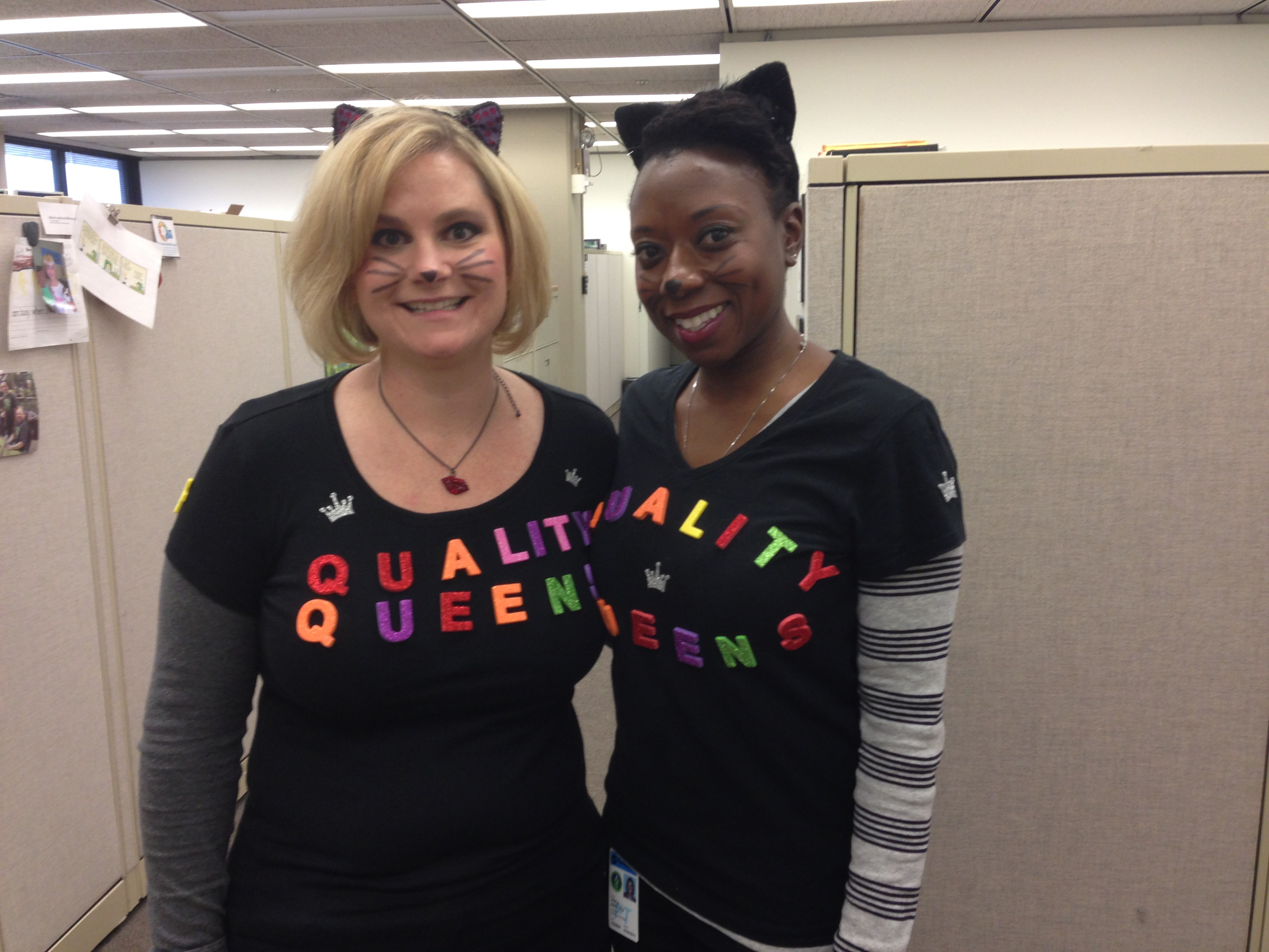 ESH&Q's Kathy Zappia, left, and Jemila Adetunji are the queens of quality at Fermilab. Photo courtesy of Martha Michels, ESH&Q
