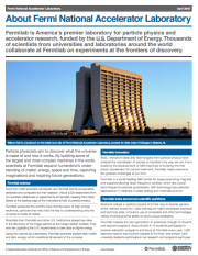 About Fermilab fact sheet