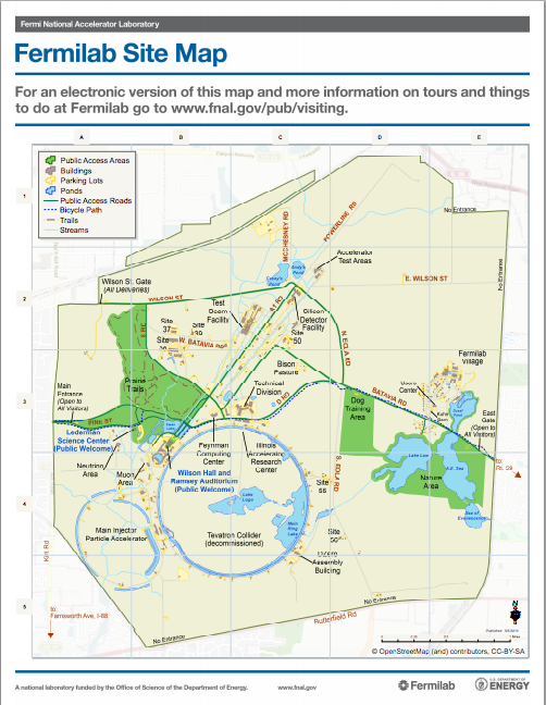 Fermilab Site Map