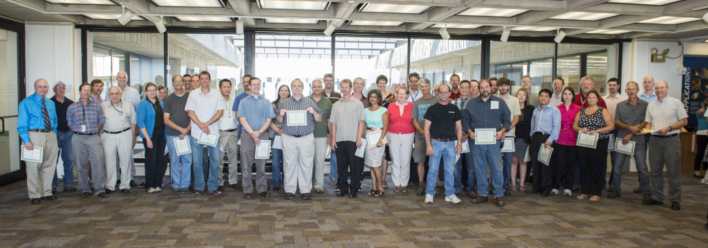 Exceptional Performance Recognition Award recipients accepted their awards Sept. 15. Photo: Reidar Hahn