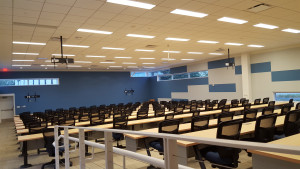 New furniture was recently installed in the 175-seat IARC lecture hall. Photo: Bob Kephart, IARC