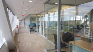 The third-floor office suites in the IARC OTE Building are finished. Photo: Bob Kephart