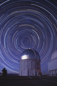 Composite picture of stars over the Cerro Tololo Inter-American Observatory in Chile. Credit: Reidar Hahn/Fermilab