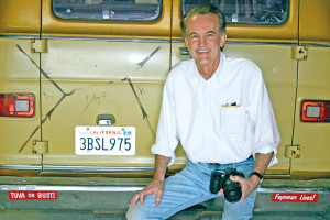 Edward Tufte next to the famous Feynman van. Photo: Michael Shermer.