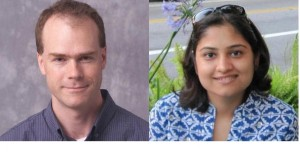 Matthew Jones (Purdue University), left, and Niharika Ranjan Singh (formerly Purdue University, now at Google) are the primary analysts for this result.