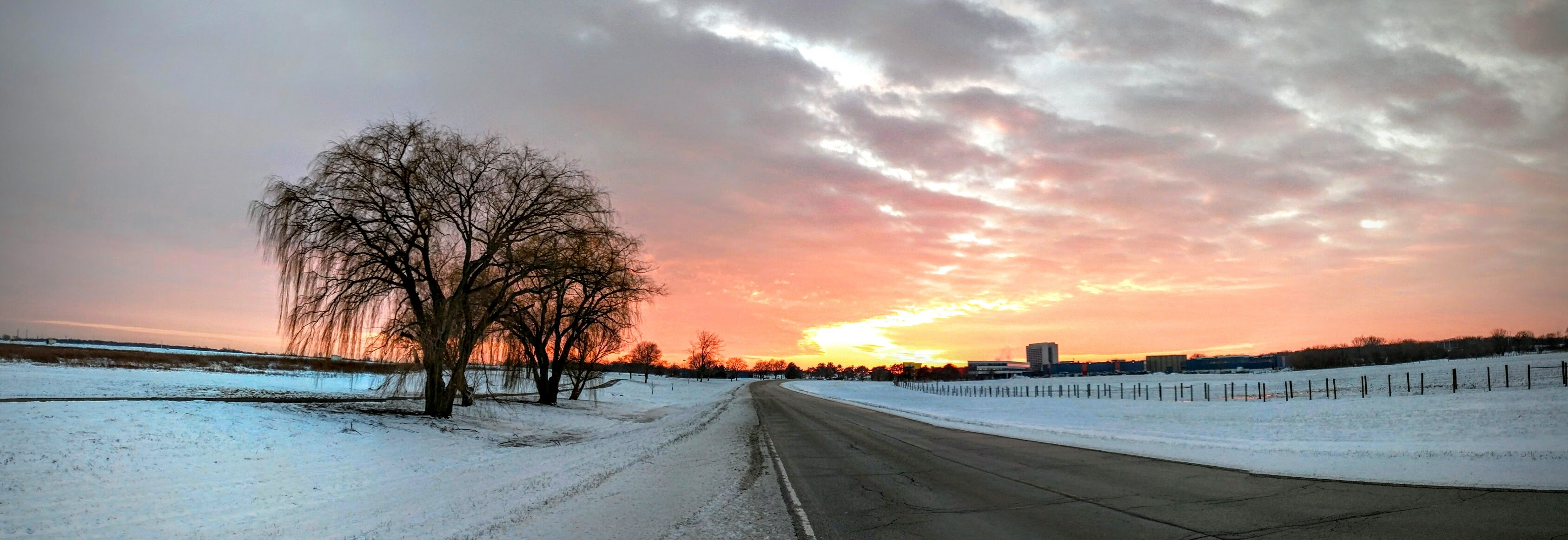 The sun set beautifully over Batavia Road on Jan. 13. Photo: Valery Stanley, WDRS