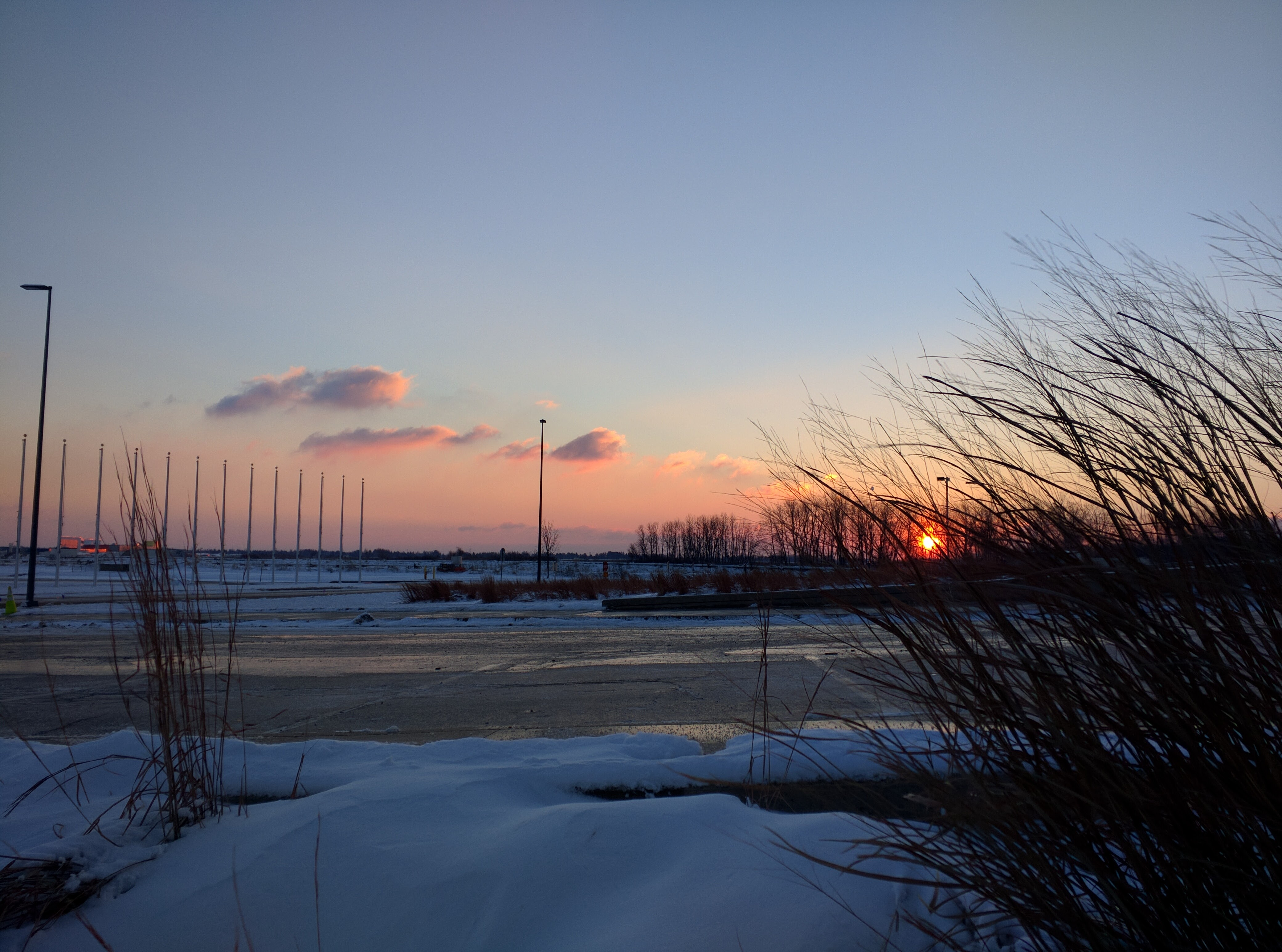 The sun rises on a recent very cold morning. Photo: Valery Stanley, WDRS