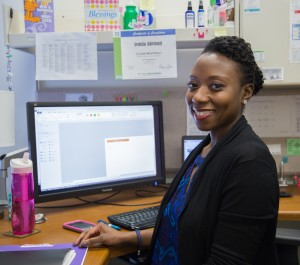 Jemila Adetunji is a valuable member of Fermilab's quality assurance team. Photo: Rashmi Shivni