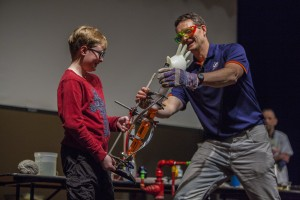 Members of Weird Science educate and entertain at Fermilab's annual Wonders of Science show.