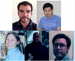 From top left to bottom right: Michel Hernandez-Villanueva and Eduard De La Cruz-Burelo (CINVESTAV, Mexico) Marj Corcoran (Rice University), Jesus Orduna (Brown University) and Brad Abbott (U Oklahoma) are the primary analysts for this measurement.