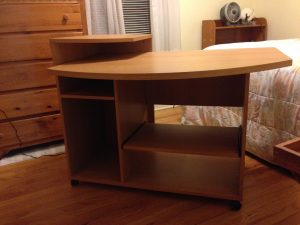 front view of desk