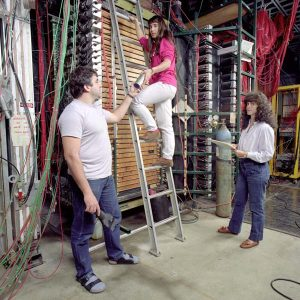 Brazilian scientists were working on Fermilab experiment E769 in 1989. Photo: Fred Ullrich