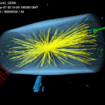 Collisions recorded on May 7, 2016, by the CMS detector on the Large Hadron Collider. After a winter break, the LHC is now taking data again at extraordinary energies. Image: CERN