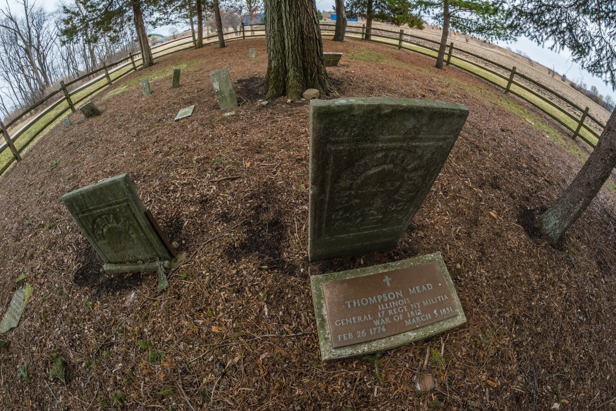 Here's a look at the Fermilab Pioneer Cemetery through a fisheye lens. Photo: Leticia Shaddix