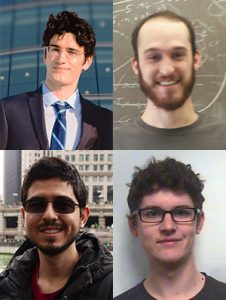 These physicists contributed to this analysis. Top row: Vladimir Bychkov (University of Minnesota) and Joseph Lozier (California Institute of Technology. Bottom row: Jose Sepúlveda-Quiroz (Iowa State University) and Luke Vinton (University of Sussex, UK).