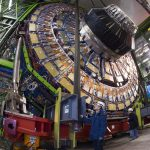 Touch down. Now that the final piece is underground, final commissioning will begin on the CMS detector. Image courtesy of CERN