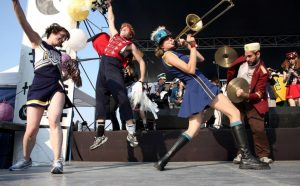 Chicago's Mucca Pazza will kick off Fermilab's 50th anniversary year with a party on Jan. 21.