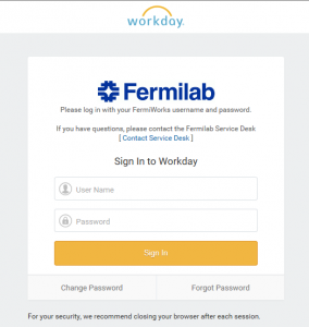Current FermiWorks log-in page