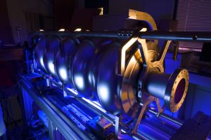 Fermilab is contributing to accelerator programs at Northern Illinois University and the University of Chicago. The aim of these programs is to improve particle beam delivery, including the performance of superconducting radio-frequency technology. Photo: Reidar Hahn