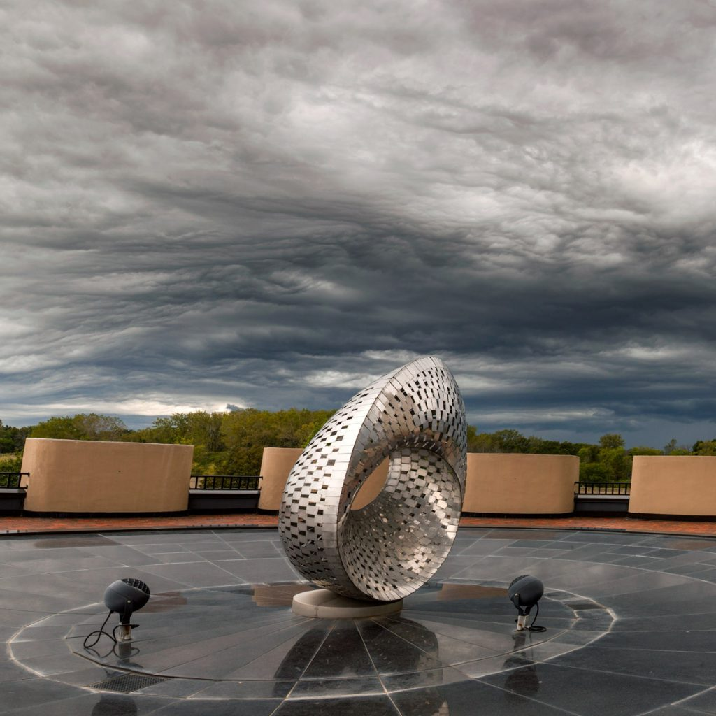 Clouds covered Chicagoland on Thursday, including the Mobius Strip. Photo: Marty Murphy, AD