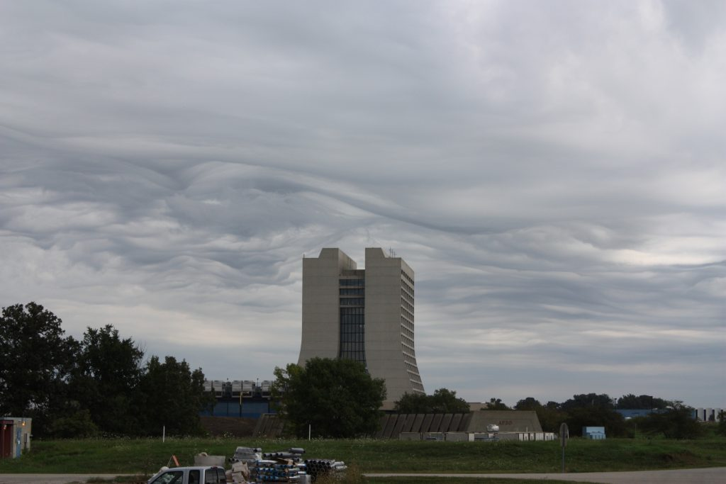 Clouds covered Chicagoland on Thursday. This shows a view of Wilson Hall from MI-8 ... Photo: Keith Anderson, AD
