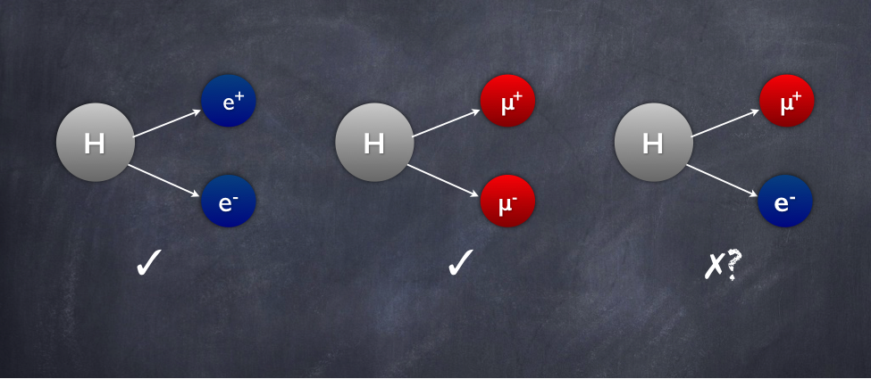 lepton flavor violation  the search for mismatched higgs