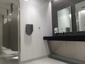FESS architects and engineers remodeled atrium restrooms with sustainability in mind.