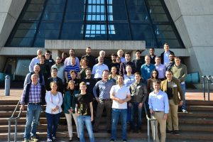 Participants of the eighth INFIERI workshop at Fermilab's LHC Physics Center met last week. Photo courtesy of Petra Merkel