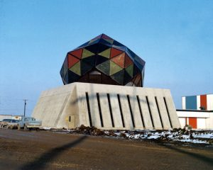 In 1972, Fermilab completed the Neutrino Dome (now called the Geodesic Dome), constructing it of materials you might find in your kitchen. Photo: Fermilab