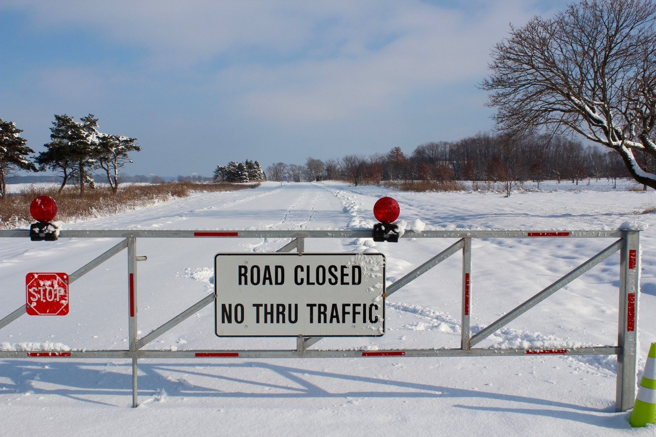 Throwback Thursday: This road was closed with good reason. Photo: Georgia Schwender