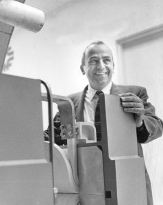 Ned Goldwasser in 1967 at the National Accelerator Laboratory Oak Brook office