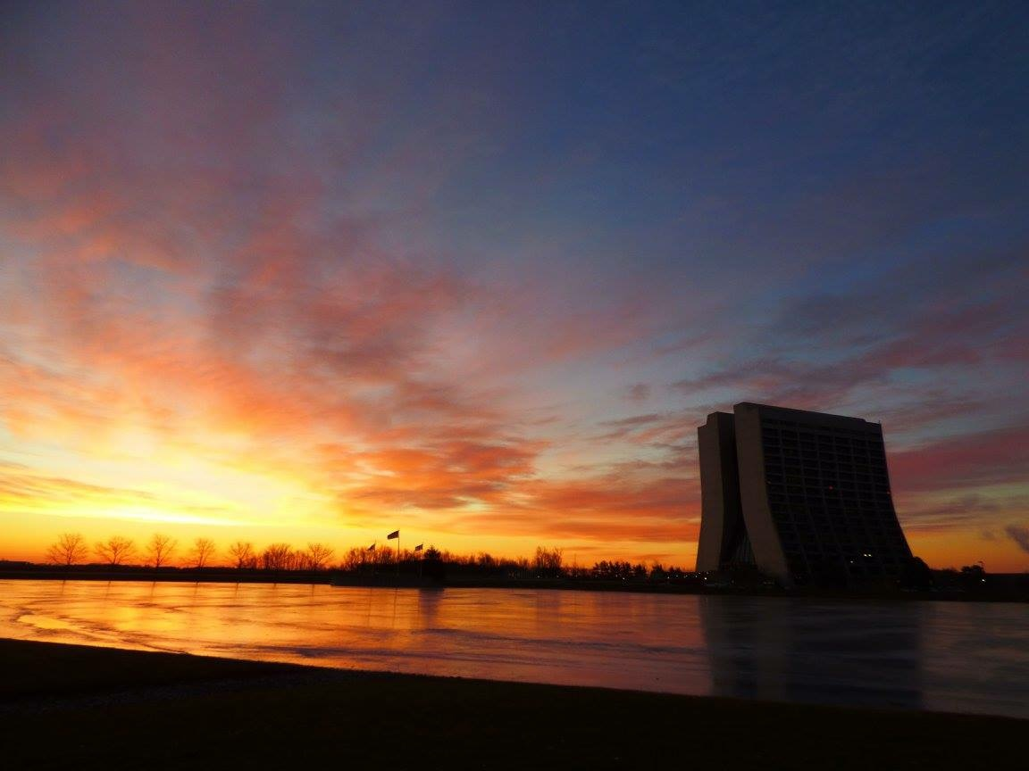 Throwback to the last working day of 2016: The sunrise lights up the sky and Swan Lake alike. Photo: Amy Scroggins