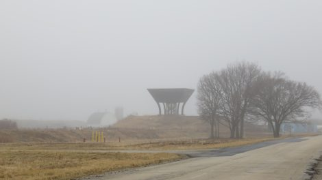 Flashback Friday: A foggy February day produced a nice still life at the Proton Pagoda. Photo: Barb Kristen