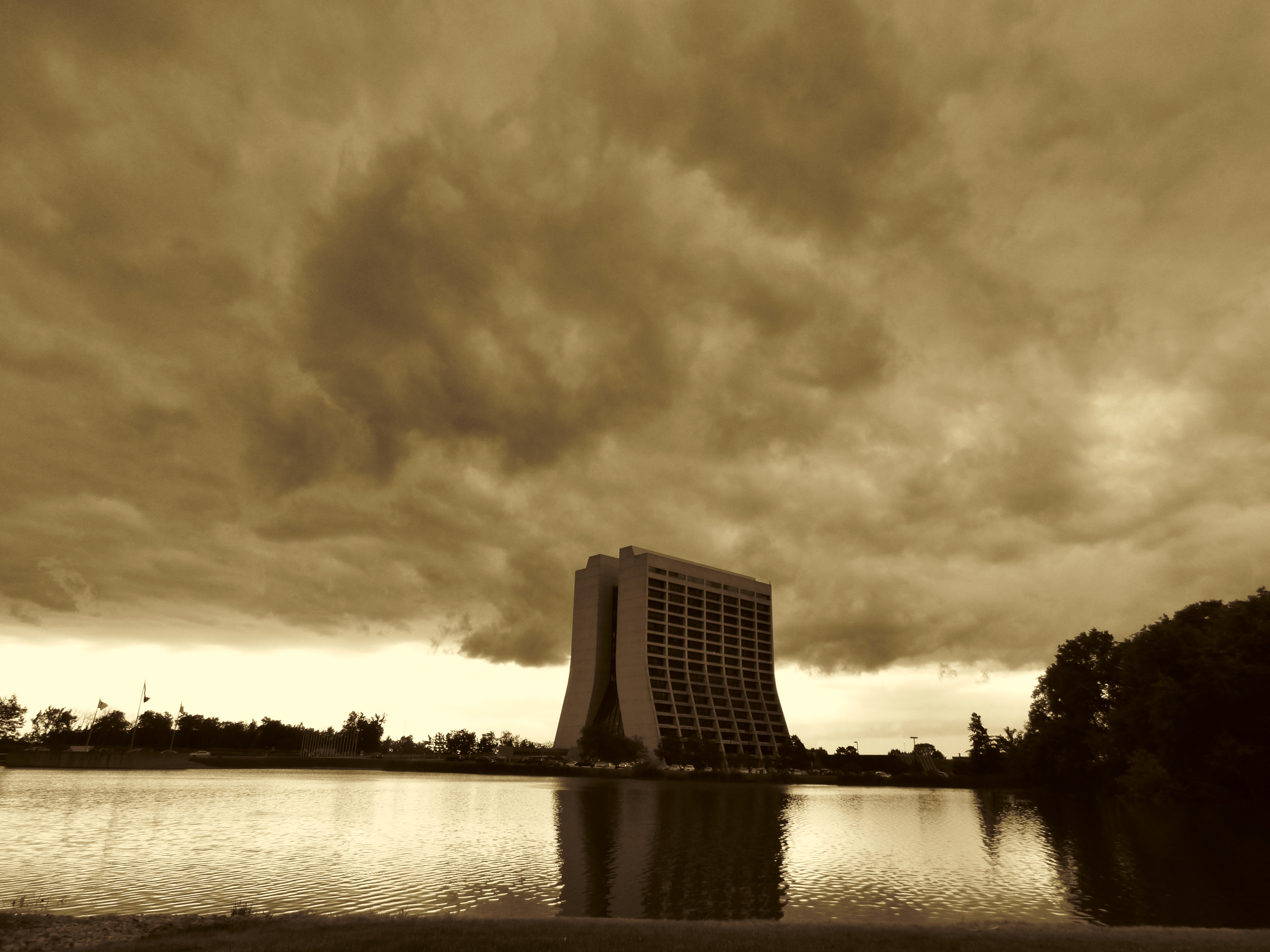 storm, cloud, sky, building, Wilson Hall