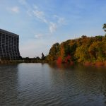 fall, nature, landscape, lake, tree, woods, autumn, Wilson Hall, building