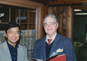 Ryuji Yamada and Robert Wilson on Wilson's 80th birthday party