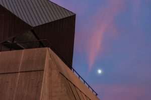 moon and geodesic dome, building, moon sky, night