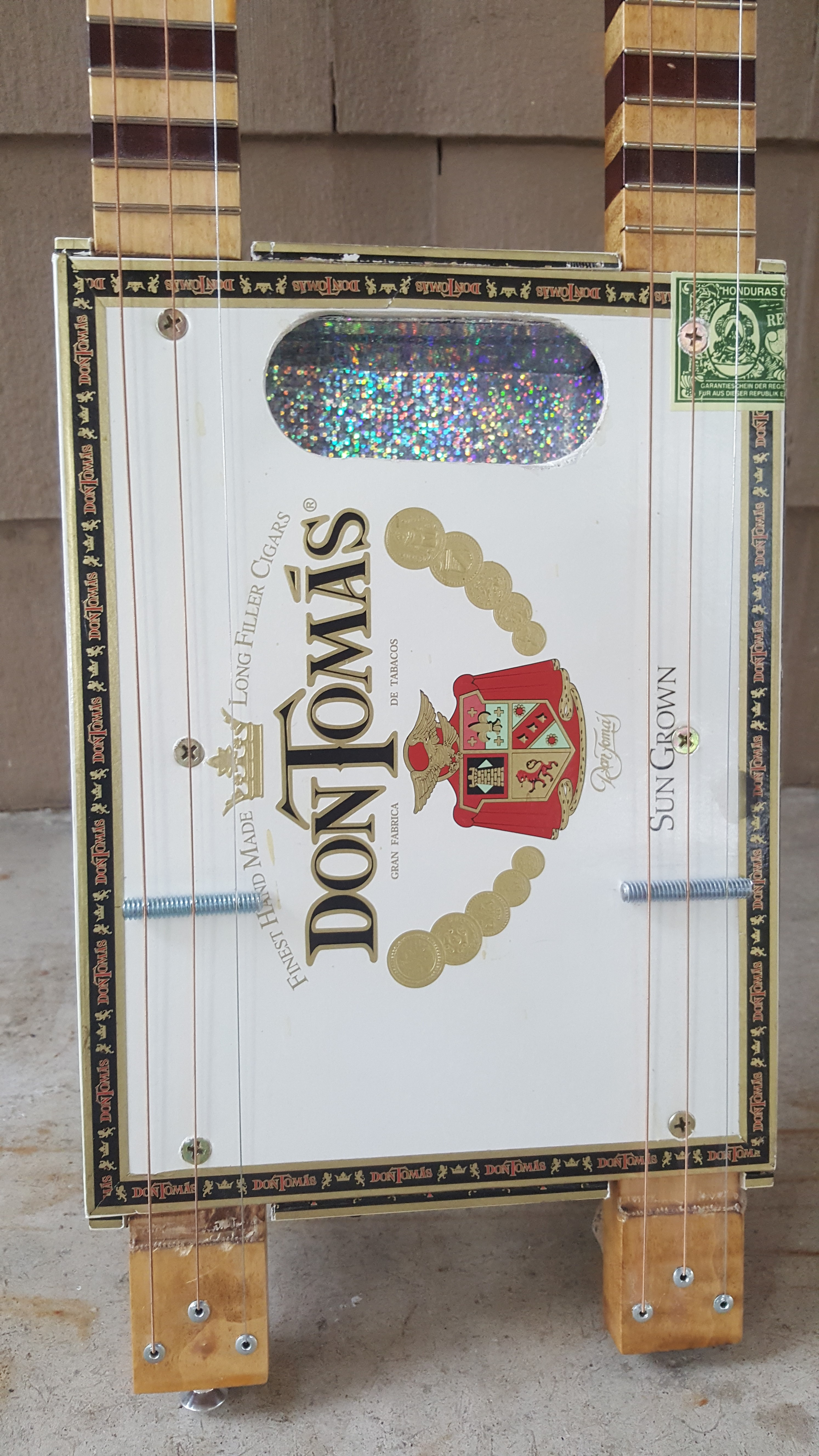 For Sale – Double Neck 3 String Cigar Box Guitar | News