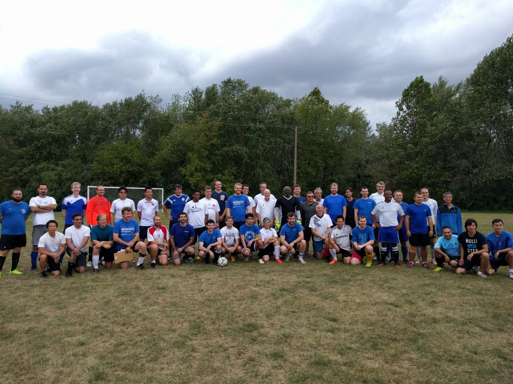 Everyone had a good time at the Fermilab vs. Argonne soccer match on Oct. 7. Photo: O'Sheg Oshinowo
